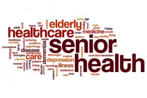 Senior health word cloud